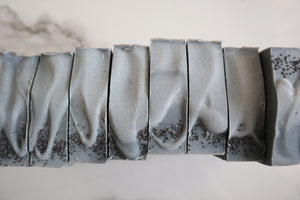 Cedar & Peppermint Charcoal Raw Goat's Milk Soap