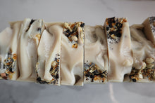 Load image into Gallery viewer, Cedarwood, Wintergreen, and Rosemary Raw Goat's Milk Soap