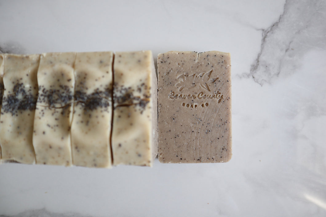 Unscented Exfoliating Coffee Coconut Milk Soap