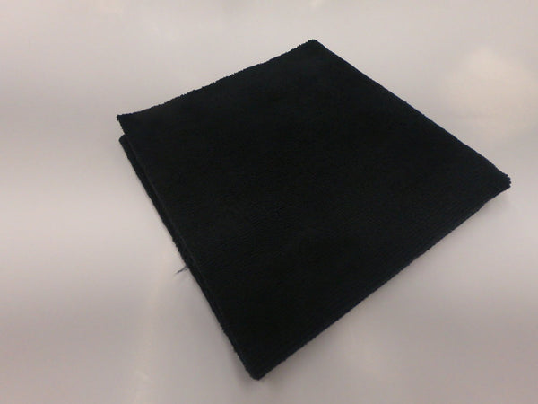 Black Microfiber Towel