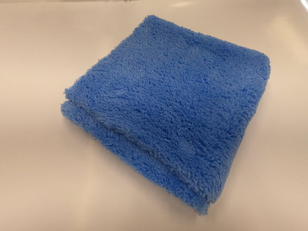Plush Edgeless Microfiber towel Blue