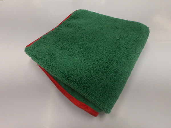 Large Plush Microfiber Towel Green