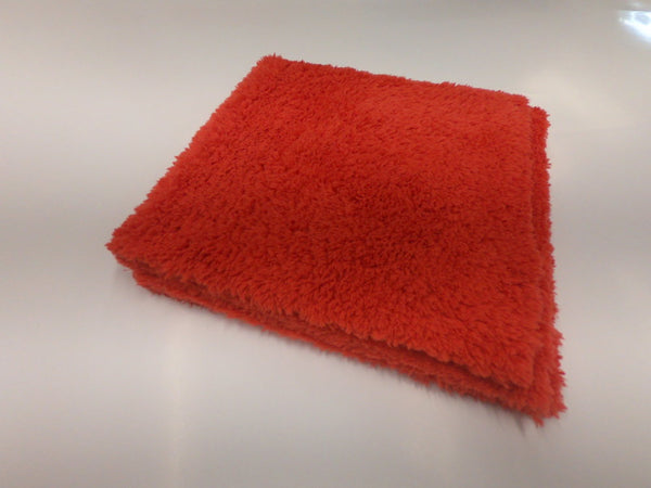 Plush Edgeless Microfiber Towel Red