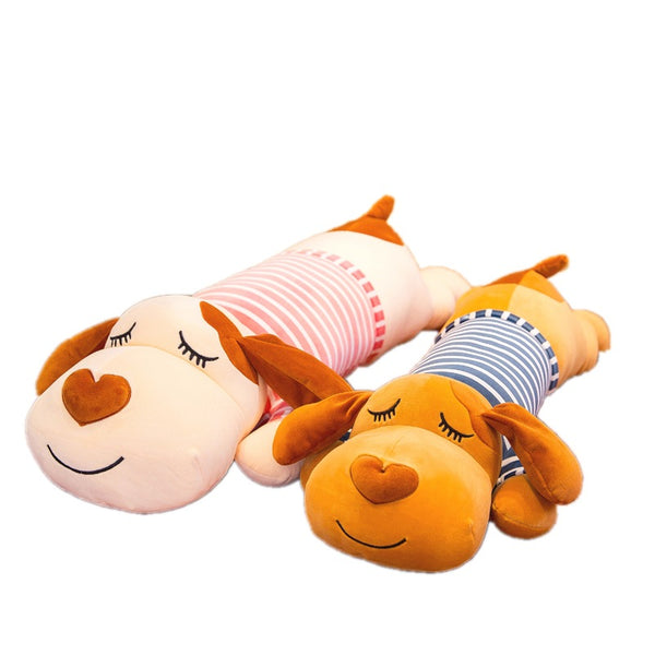 Simanfei Cute Dog Pillow Soft Plush Toy Dolls Decorative Cushions For Beds Hug Travel Long Pillow Backrest Animal Body Pillow