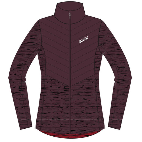 BLIZZARD HYBRID JACKET WOMEN SWIX APPAREL  94303 DARK AUBERGINE XL