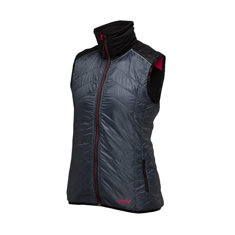 MENALI - WOMEN QUILTED VEST SWIX APPAREL  11003 HEATHER CHARCOAL XL