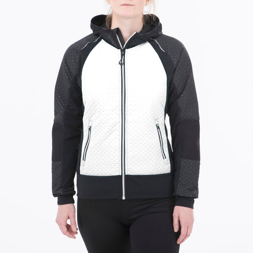MENALI - WOMEN'S ULTRA QUILTED HOODY SWIX APPAREL  00025 SNOW WHITE XS