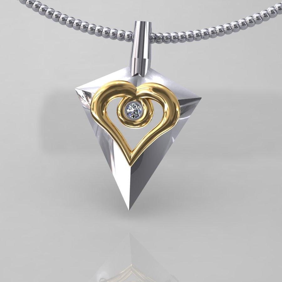 Bow Hunting Heart Pendant