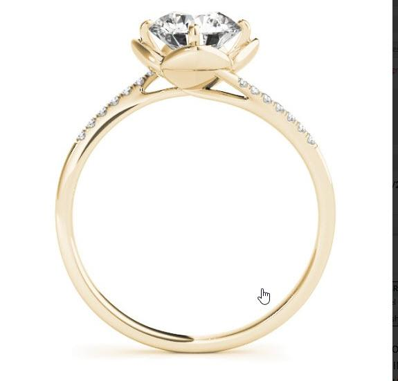 Alaya Garden Beauty Oval Halo Vintage Engagement Ring