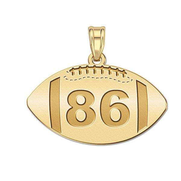 Sports Number Pendant Football 3/4""