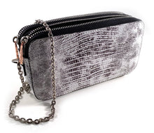 Load image into Gallery viewer, Snake Skin Double Wallet Bag