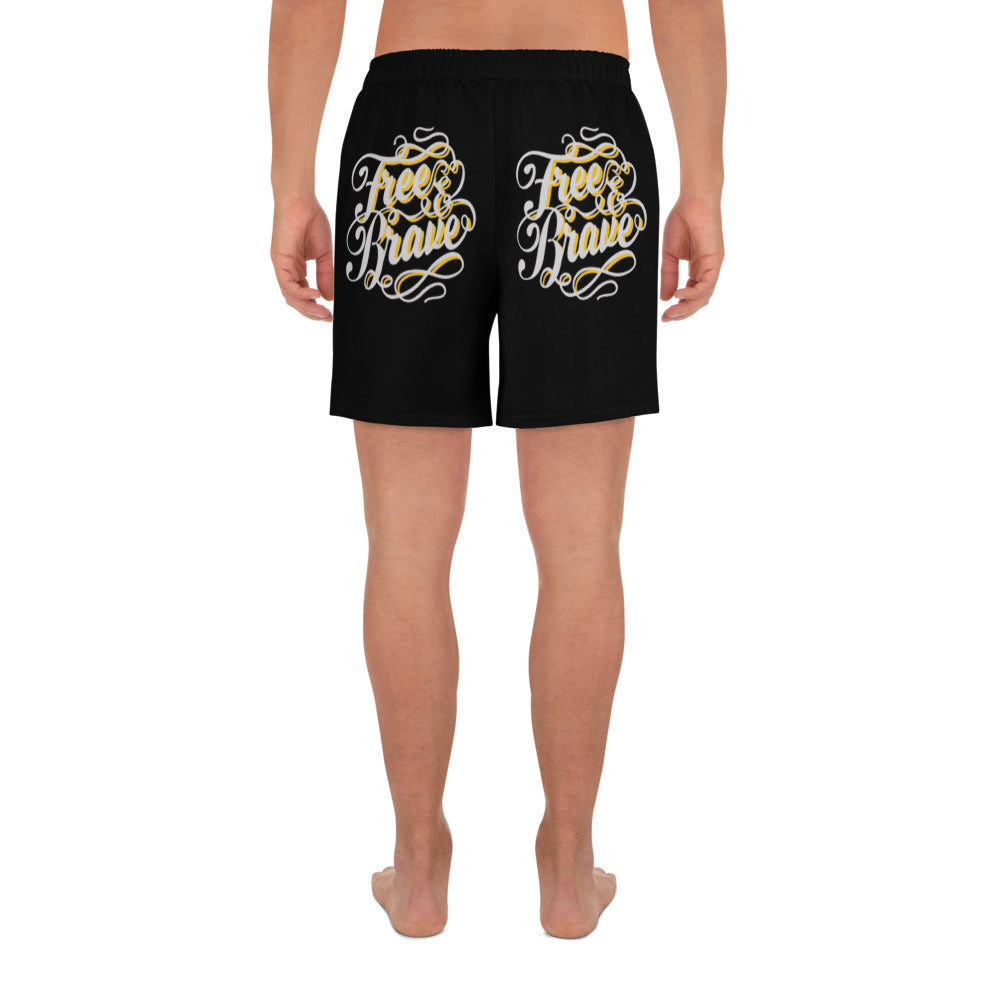 Free & Brave Men's Athletic Long Shorts