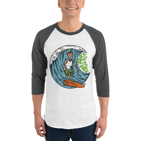 Surfs Up 3/4 sleeve raglan shirt