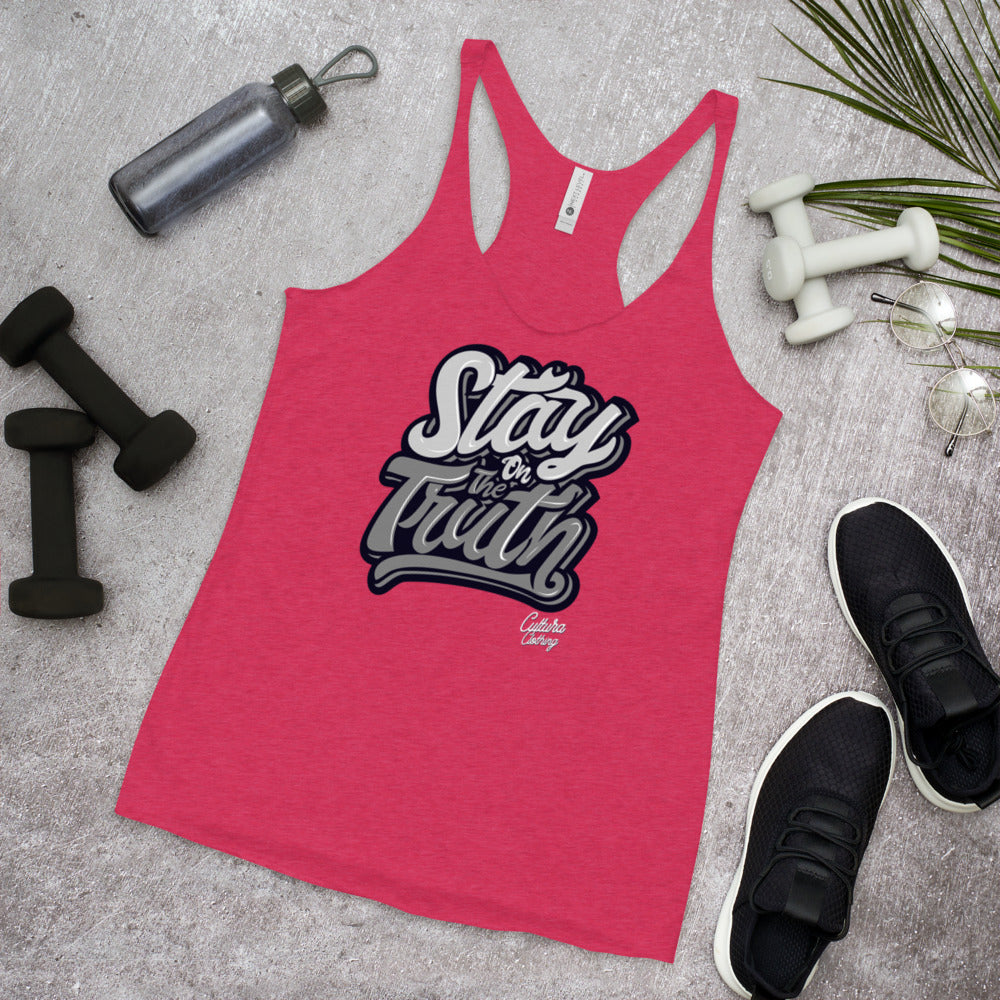 Stay On The Truth Women's Racerback Tank