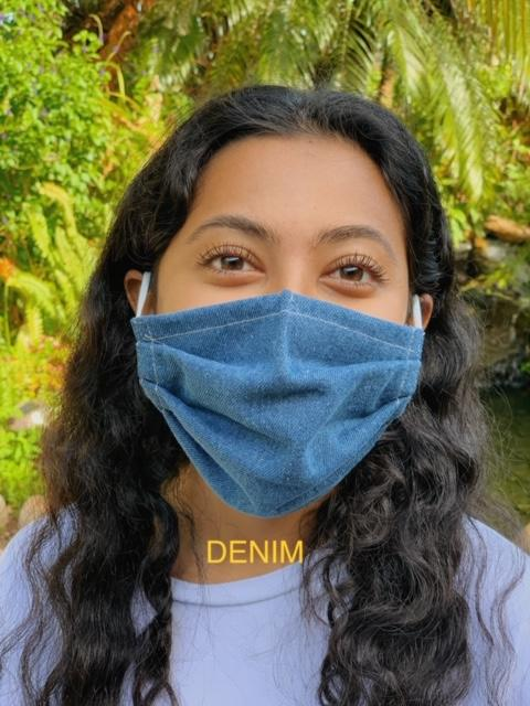 Face Mask Double Lined, Reusable, Washable, Comfortable, Foldable in Patterned Fabric
