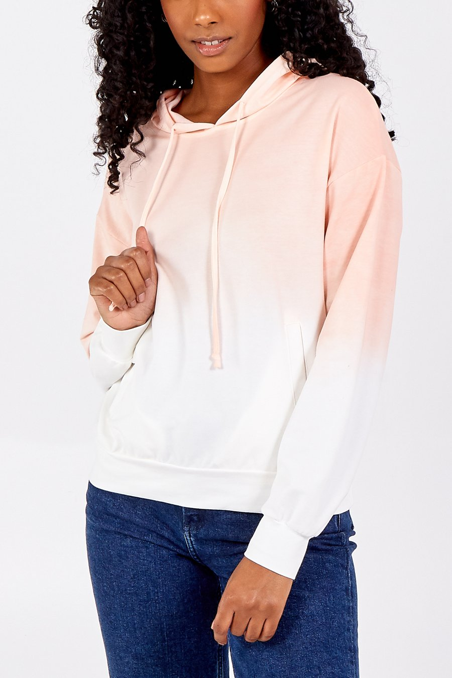 Coral Ombre Hoodie
