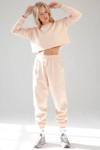 Naomi Fleece Joggers (Blush)