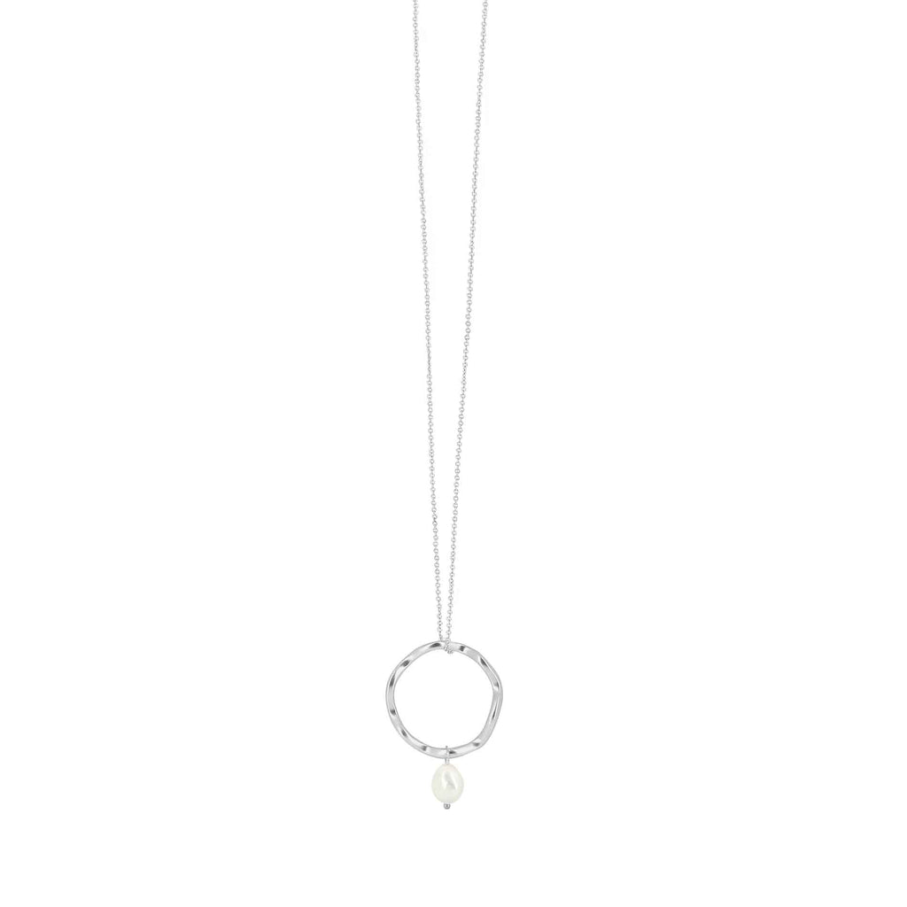 Audrey Curve Necklace Silver Plating
