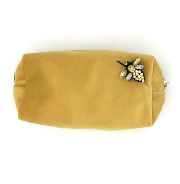 Amber Velvet Make-Up Bag
