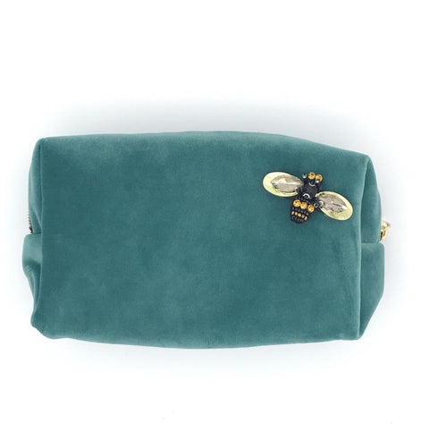 Duck Egg Velvet Make-Up Bag