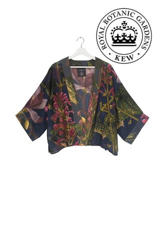 One Hundred Stars Blue Magnolia Flower Kimono