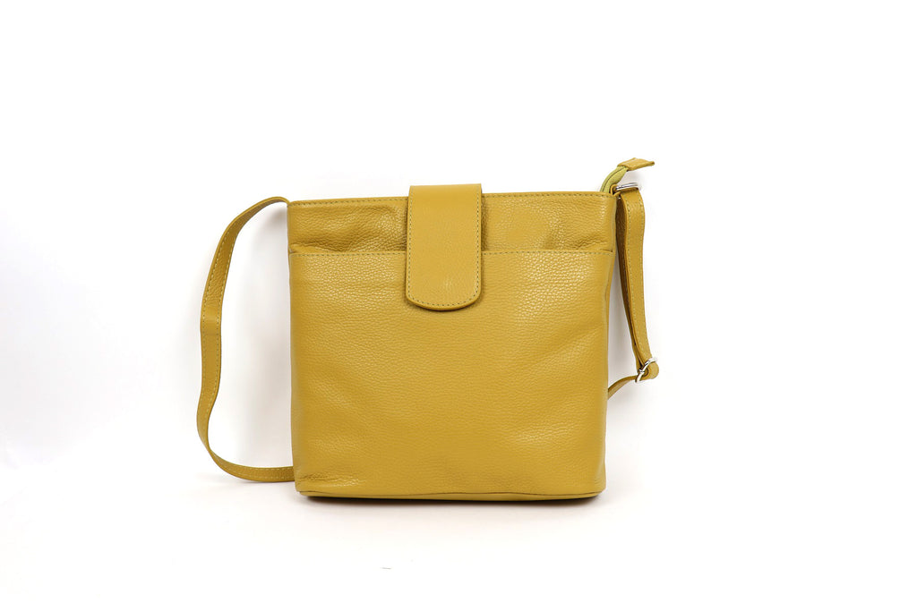 Leather Shoulder Bag Mustard