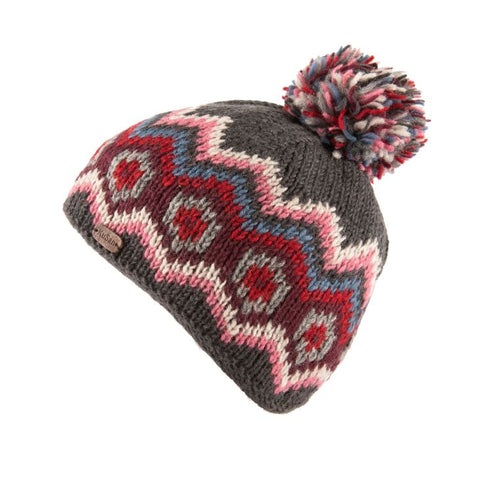 Charcoal Multi Colour Bobble Hat