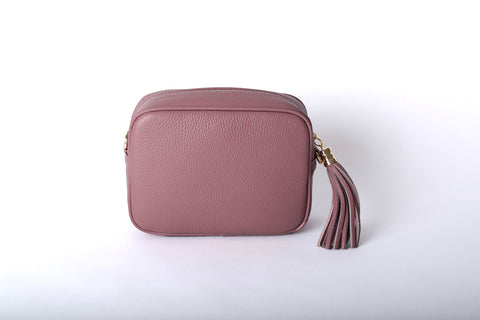 Leather Cross Body Bag - Dusty Pink