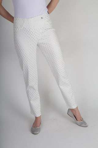 Robell Bella trousers with Silver Dots 51560- 54714