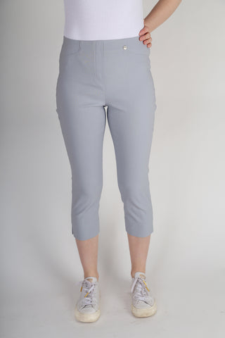 Robell Rose 07 Crop Trousers - Soft Grey 51636-5499