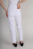 Robell Bella 09 White Jacquard Textured Trousers Style 51560-54401