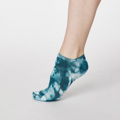 Thought Tie Dye Socks  Blue