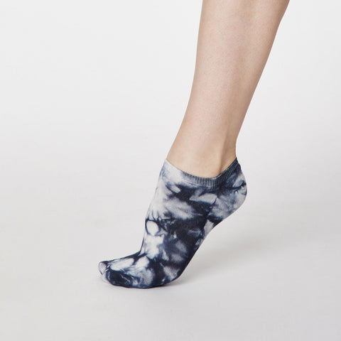 Thought Tie Dye Socks Navy