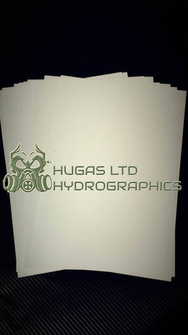 NEW HYDROGRAPHICS BLANK FILM RFU A4 SHEETS RFU