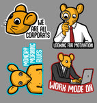 Corporat Sticker Sheet #1 (4 Stickers)
