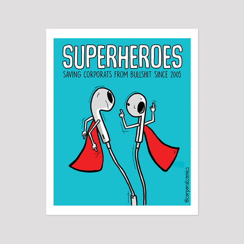 Superheroes - Poster (Desk / Wall)