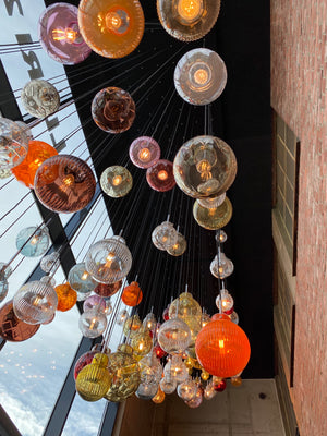 Crystal Ball Installation at Hadeland Glassworks village