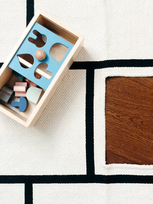 OYOY wooden Puzzle box KAOS Paradishopp Hopscotch Rug Blue House Goods