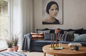 Livingroom decorated with home goods from Danish brand OYOY Living Design