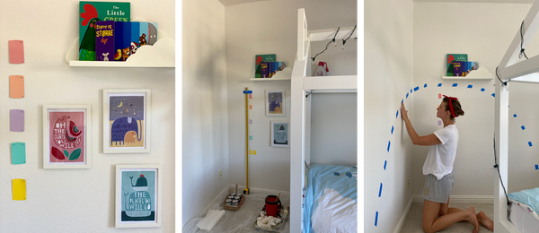 Photos of painting Isa's room