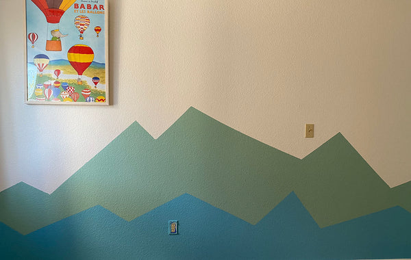 mountain scape wall mural kids room