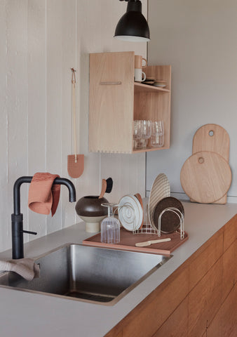 Kitchen with oyoy yumi cutting board