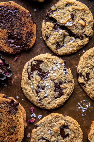Half baked harvest salted tahini butter chocolate chip cookies