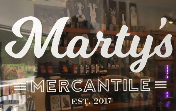 Marty's Mercantile Sign