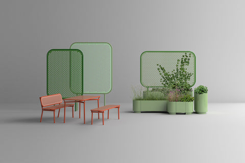 The Pop outdoor furniture collection designed by Kristine Five Melvær and produced by Vestre