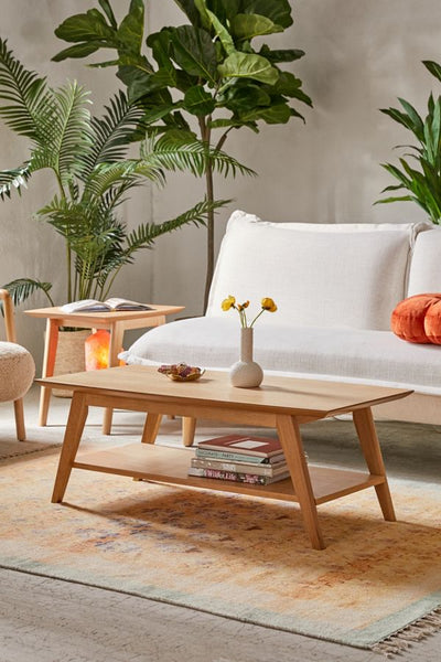 The mabel coffee table from Urban Outfitters, a traditional mid-century modern and Scandinavian furniture