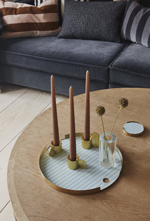 Circle Brass Art Candleholder