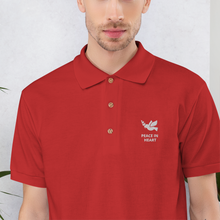 Load image into Gallery viewer, PEACE | Embroidered Polo Shirt - Detalles