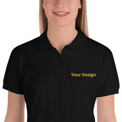 تطريز تيشترت بولو| Custom Embroidered Women's Polo Shirt - Detalles