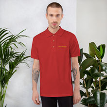 Load image into Gallery viewer, تطريز تيشيرت بولو| Custom Embroidered Polo Shirt - Detalles